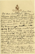 Basketball Collectibles:Others, 1917 James Naismith Handwritten Signed Letter with Signed Envelope.. Date: August 1, 1917.. Location: San Francisco, Cal...