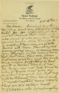 Basketball Collectibles:Others, 1917 James Naismith Handwritten Signed Letters with Signed Envelope (Two letters mailed together!). Date: September 13, 19...