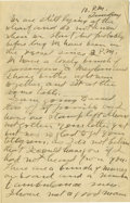 Basketball Collectibles:Others, 1917 James Naismith Handwritten Signed Letter with SignedEnvelope.. Date: September 15, 1917.. Location: New York, New ...