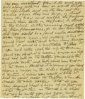 Basketball Collectibles:Others, 1917 James Naismith Handwritten Signed Letter with SignedEnvelope.. Date: September 28, 1917.. Location: At sea en rout...