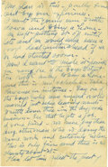 Basketball Collectibles:Others, Circa 1918 James Naismith Handwritten Letter.. Date: Undated..Location: France.. Length in pages: Three.. General T...