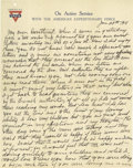 Basketball Collectibles:Others, 1918 James Naismith Handwritten Signed Letter with Signed Envelope.. Date: January 29, 1918.. Location: Paris, France.. ...