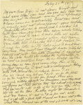 """Basketball Collectibles:Others, 1918 James Naismith Handwritten Signed Letter.. Date: February 25, 1918 (though Naismith mistakenly dates the letter """"1917..."""