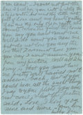 """Basketball Collectibles:Others, 1918 James Naismith Handwritten & Typed Letters Lot of 3.. Trio of short notes on """"Hotel de Castiglione, Paris"""" letterhead..."""