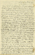 Basketball Collectibles:Others, 1918 James Naismith Handwritten Letter with Signed Envelope.. Date:May 12, 1918.. Location: France (no city listed).. ...