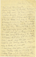 Basketball Collectibles:Others, 1918 James Naismith Handwritten Signed Letter with Signed Envelope.. Date: July 4, 1918.. Location: Paris, France.. Le...