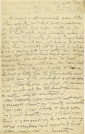 Basketball Collectibles:Others, 1918 James Naismith Handwritten Signed Letter.. Date: July 26,1918.. Location: France.. Length in pages: Four.. Gen...