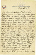 """Basketball Collectibles:Others, 1918 James Naismith Handwritten Signed Letter.. Date: August 10,1918.. Location: France.. Length in pages: Two, on """"Y..."""