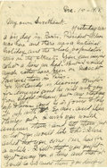 Basketball Collectibles:Others, 1918 James Naismith Handwritten Signed Letter with SignedEnvelope.. Date: December 15, 1918.. Location: France.. Leng...