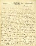 Basketball Collectibles:Others, 1919 James Naismith Handwritten Signed Letter with SignedEnvelope.. Date: February 12, 1919.. Location: France.. Leng...
