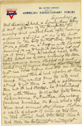 Basketball Collectibles:Others, 1919 James Naismith Handwritten Signed Letter with SignedEnvelope.. Date: March 4, 1919.. Location: Paris, France.. L...
