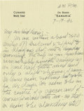 Basketball Collectibles:Others, 1936 James Naismith Handwritten Signed Letter with Signed Envelope.. Date: July 17, 1936.. Location: On board Samaria (e...