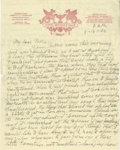 Basketball Collectibles:Others, 1936 James Naismith Handwritten Signed Letter.. Date: August 16, 1936.. Location: Berlin, Germany.. Length in pages: T...