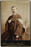 Basketball Collectibles:Others, 1887 James Naismith Signed Cabinet Photograph & McGillUniversity Pennant. Early studio portrait pictures Naismith inschol...