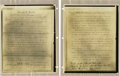 Basketball Collectibles:Others, Important James Naismith Archive Regarding Birth of Basketball.Simply the most historically significant documents regardin...