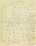 "Basketball Collectibles:Others, James Naismith Handwritten Manuscript Detailing First Basketball Game. Basketball's equivalent of the ""Book of Genesis"" is ..."