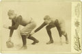 Basketball Collectibles:Others, 1891 James Naismith Signed Football Cabinet Photograph. Naismith'ssecond most important contribution to the world of sport...
