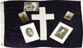Basketball Collectibles:Others, Late 1910's James Naismith Military Photograph Archive withAutograph & Chaplain's Flag. Five photographs documentNaismith...