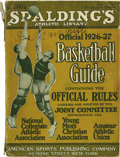 Basketball Collectibles:Others, 1926-27 Spalding's Official Basketball Guide, Signed by Naismith.The founder's personal copy, bearing a 9/10 black fountai...