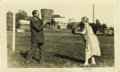 Basketball Collectibles:Others, 1927 James Naismith & Wife Photograph. Charming image finds theloving Naismith couple having a bit of fun with the origina...