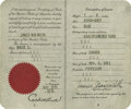 Basketball Collectibles:Others, 1936 James Naismith Passport with Multiple Signatures. Dr.Naismith's personal passport was issued May 29, 1936 to allow hi...