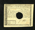 Colonial Notes:New Hampshire, New Hampshire April 29, 1780 $4 Choice About New++. A little cornerhandling is all that keeps this well margined New Hampsh...