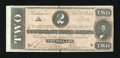 Confederate Notes:1862 Issues, T70 $2 1864. This well margined Judah P. Benjamin note gradesChoice About Uncirculated....