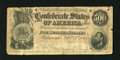 Confederate Notes:1864 Issues, T64 $500 1864. This is decent birth year serial number CSA $500. There are a few notches in the margins with a couple holes....