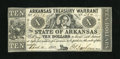 Obsoletes By State:Arkansas, (Little Rock), AR- Arkansas Treasury Warrant $10 April 4, 1862 Cr. 58. While technically About Uncirculated, this note m...