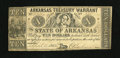 Obsoletes By State:Arkansas, (Little Rock), AR- Arkansas Treasury Warrant $10 April 11, 1862 Cr. 54. This piece is closer to VF than Fine. The paper is s...