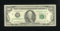 Error Notes:Skewed Reverse Printing, Fr. 2169-B Series 1981 $100 Federal Reserve Note. The back printingis skewed high. Though a touch of pen is noted on the fr...