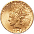 Indian Eagles, 1909-S $10 MS62 PCGS....