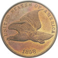Patterns, 1858 P1C Flying Eagle Cent, Judd-191, Pollock-233-234, R.5, PR65PCGS....
