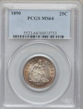 Seated Quarters, 1890 25C MS64 PCGS....