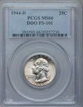 Washington Quarters, 1944-D 25C Doubled Die Obverse MS66 PCGS. FS-101....