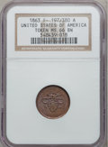 Civil War Patriotics, 1863 United States Of America Token MS66 Brown NGC.Fuld-197/380a....