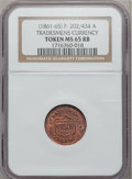 Civil War Patriotics, (1861-65) Tradesmens Currency Token MS65 Red and Brown NGC.Fuld-202/434a....