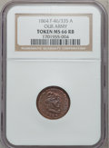 Civil War Patriotics, 1864 Our Army Token MS66 Red and Brown NGC. Fuld 46/335a....
