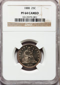 Proof Seated Quarters, 1888 25C PR64 Cameo NGC....