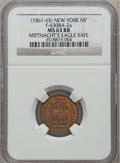 Civil War Merchants, (1861-65) Mittnacht's Eagle Safe, New York, New York MS63 Red andBrown NGC. Fuld-NY630BA-2a....