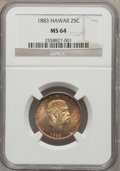 Coins of Hawaii: , 1883 25C Hawaii Quarter MS64 NGC. NGC Census: (198/254). PCGSPopulation (319/259). Mintage: 500,000. (#10987)...