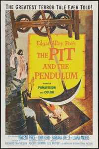 """The Pit and the Pendulum (American International, 1961). One Sheet (27"""" X 41""""). Horror"""