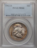 Franklin Half Dollars, 1962-D 50C MS66 PCGS....