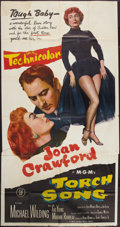 """Movie Posters:Romance, Torch Song (MGM, 1953). Three Sheet (41"""" X 81""""). Romance.. ..."""