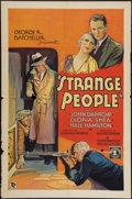 """Movie Posters:Mystery, Strange People (Chesterfield, 1933). One Sheet (27"""" X 41""""). Mystery.. ..."""