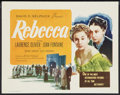 """Movie Posters:Hitchcock, Rebecca (Selznick, R-1950s). Title Lobby Card (11"""" X 14"""").Hitchcock.. ..."""