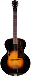 Musical Instruments:Acoustic Guitars, Circa 1948 Kalamazoo KG Sunburst Archtop Acoustic Guitar, Serial#1312....