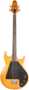 Musical Instruments:Bass Guitars, 1970's Gibson Grabber Natural Fretless Electric Bass Guitar, Serial #430505....