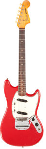 Musical Instruments:Electric Guitars, 1965 Fender Mustang Red Solid Body Electric Guitar, Serial#L88296....