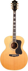 Musical Instruments:Acoustic Guitars, 1980's Guild F-50 Natural Acoustic Guitar, Serial #FE100308....
